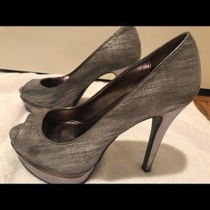 Calvin Klein high heel platforms
